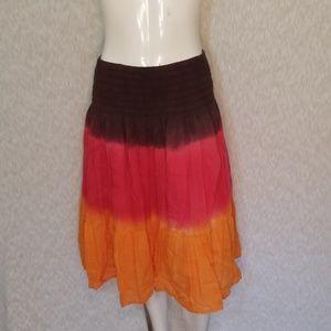 3/$24💟BLUE PLATE Tie Dyed Elastic Midi Skirt